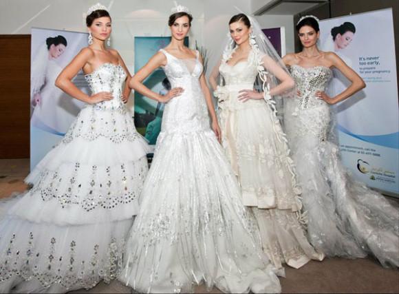 White bridal gown Show Abu Dhabi 2011 Darsara